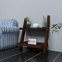 Wooden Ladder Shelf - Decor
