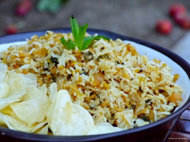 Apple Rice / Sadam with Chickpeas ~ Day 140