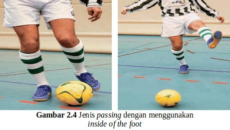 Teknik Dasar Mengumpan (Passing) Futsal