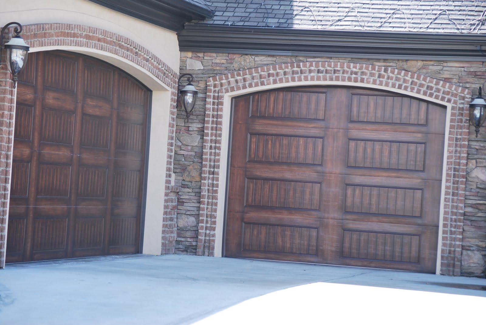 Building Our New House Brick Garage Door Border