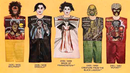 John Kenneth Muir S Reflections On Cult Movies And Classic Tv Universal Monsters Halloween Costumes Ben Cooper