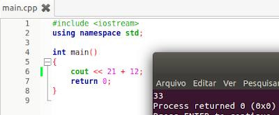 Operadores matemáticos em C++
