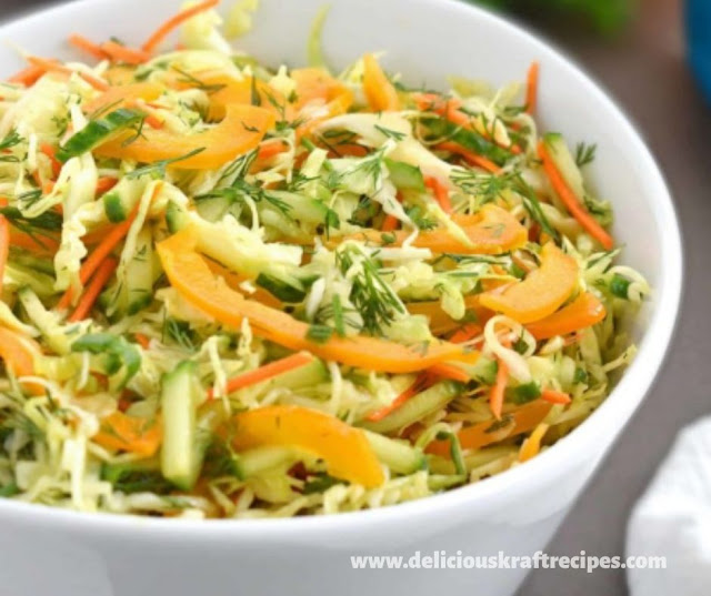 CABBAGE CARROT PEPPER SALAD