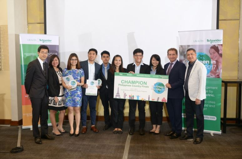 DLSU-Manila students get top prize at the Go Green in the City 2017 Country Finals