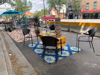 Tables on Street