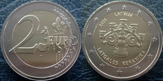 Latvia 2 euro 2020 - Latgalian Ceramics