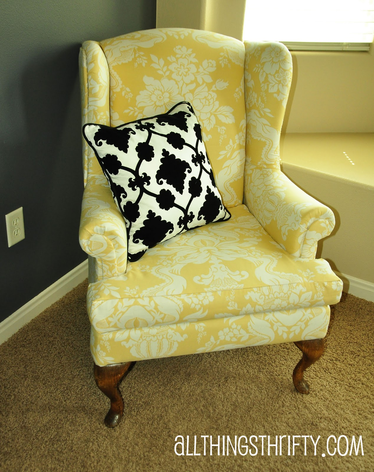 Cost Of Reupholstering A Chair Upholstering A Wing Back Chair Upholstery Tips All Things Thrifty
