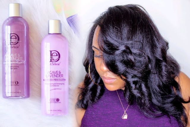 How to Slay Your Silk Press on Natural Hair Without Heat Damage Using the Design Essentials Agave + Lavender Collection