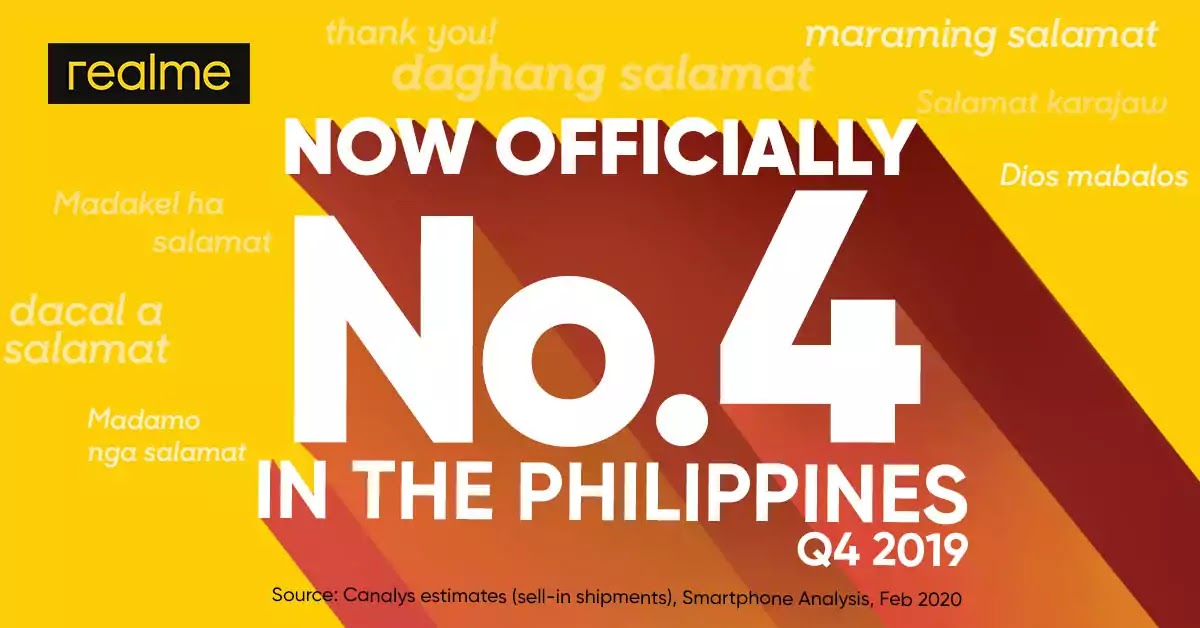 realme Philippines Top 4 Smartphone Brand