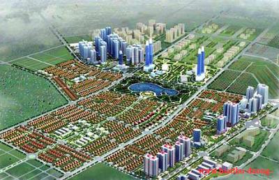 Phối cảnh khu đô thị mới Dương Nội