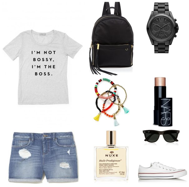Running errands outfit - Jean shorts outfit - Ioanna's Notebook