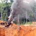 VÍDEO - Operação policial destrói maquinário usado na extração ilegal de diamantes