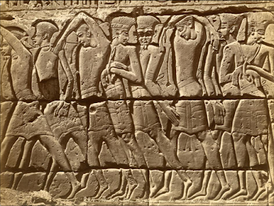 capture of sea people at battle of the delta