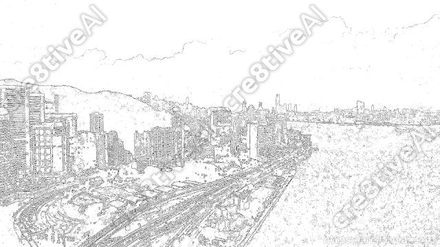 街並み_線画6
