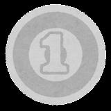 日本の硬貨のイラスト(1円)