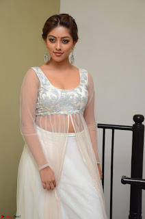 Anu Emmanuel in a Transparent White Choli Cream Ghagra Stunning Pics 116.JPG