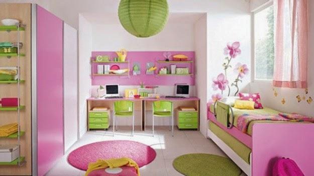 Dormitorios para ni as decorados con rosa ideas para for Cuarto de nina rosa palido