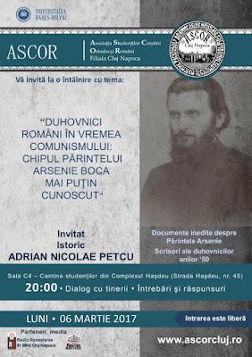 http://www.ascorcluj.ro/2017/02/28/duhovnici-romani-in-vremea-comunismului-chipul-pr-arsenie-boca-mai-putin-cunoscut-istoric-adrian-nicolae-petcu/