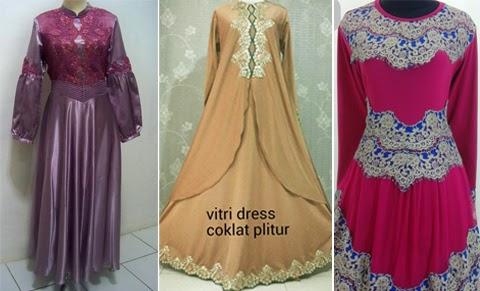 model baju gaun renda orang gemuk