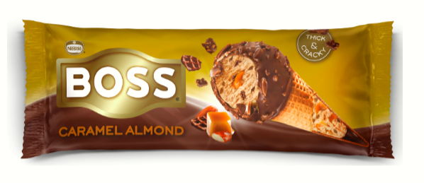 BOSS Caramel Almond Cone: Ανανεωμένη συνταγή για ακόμα μεγαλύτερη απόλαυση!