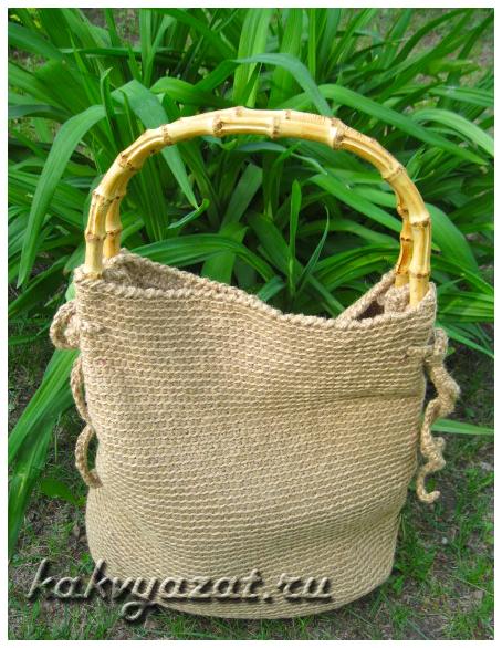 Пляжная сумка крючком (фото)