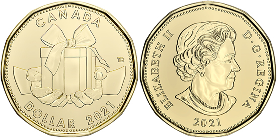 Canada 1 dollar 2021 - Birthday