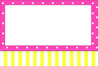 Pink and Yellow Free Printable Invitations, Labels or Cards.