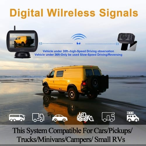 AMTIFO HD Wireless Backup Camera with Monitor Kit