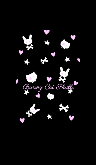 Bunny Cat Skulls