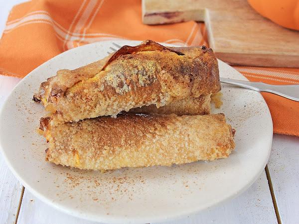 Air Fryer Pumpkin Cheesecake Rolls