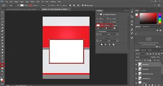 Untuk membuat tempat foto kegiatan silakan buat persegi kotak seperti gambar dibawah dan jangan lupa munculkan garis luarnya.