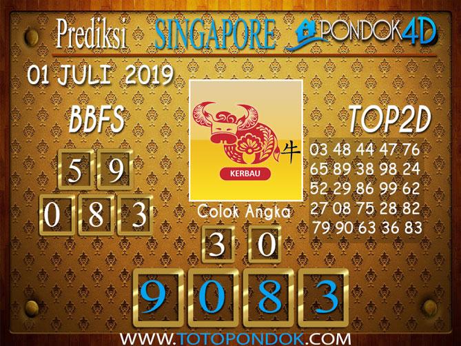 Prediksi Togel SINGAPORE PONDOK4D 01 JULI  2019