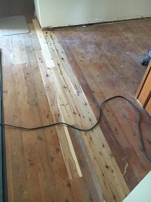 New Floorboards Laid in Old Cypress Pine Floor