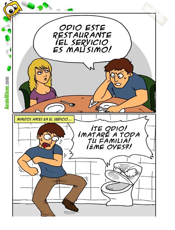 Chiste de Restaurantes: No me gusta el servicio
