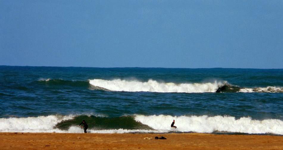 surfistas en plentzia bajamar