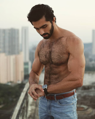Sexiest Indian Hairy Male Model Karran Kharas
