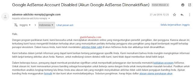 Pengalaman pahit yang manis setelah akun google adsense di ban