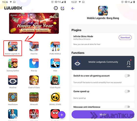 Degan aplikasi lulubox ini tidak hanya untuk cheat skin mobile legends saja guys, ternyata ada beberapa manfaat lain yang dapat kalian gunakan untuk cheat beberapa game, berikut diantaranya.