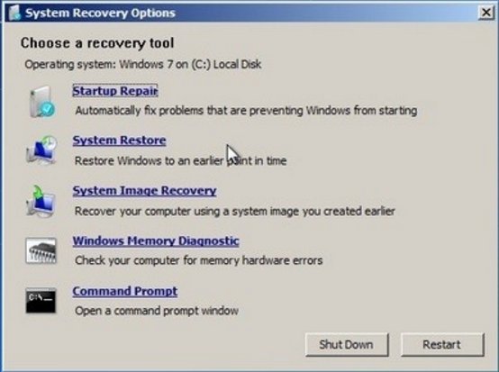 System Recovery Windows 7