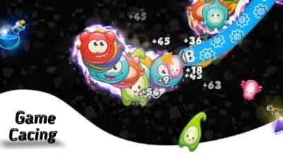 Game cacing makan buah