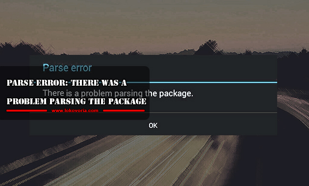 Parse Error: There was a problem parsing the package