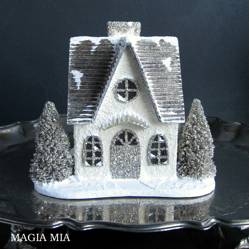 Magia Mia Putz House With Silver Leaf Amp German Glass Glitter