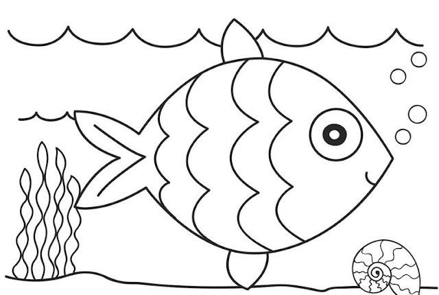 صور سمكة للتلوين للاطفال
