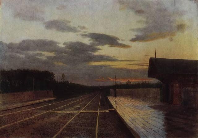 Исаак Ильич Левитан - Вечер после дождя. 1879