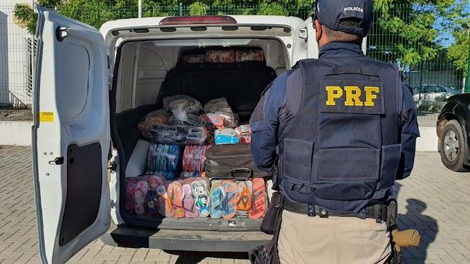 Mais de 1 mil pares de chinelos falsificados são apreendidos em São Gonçalo do Amarante, na RMF