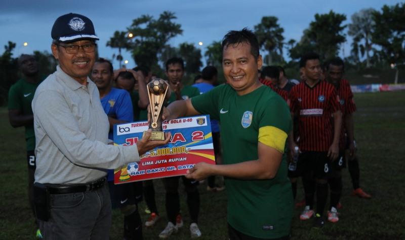 Turnamen BP Batam Bola U-40, Batamindo Berhasil Jadi Juara Lewat Adu Pinalti