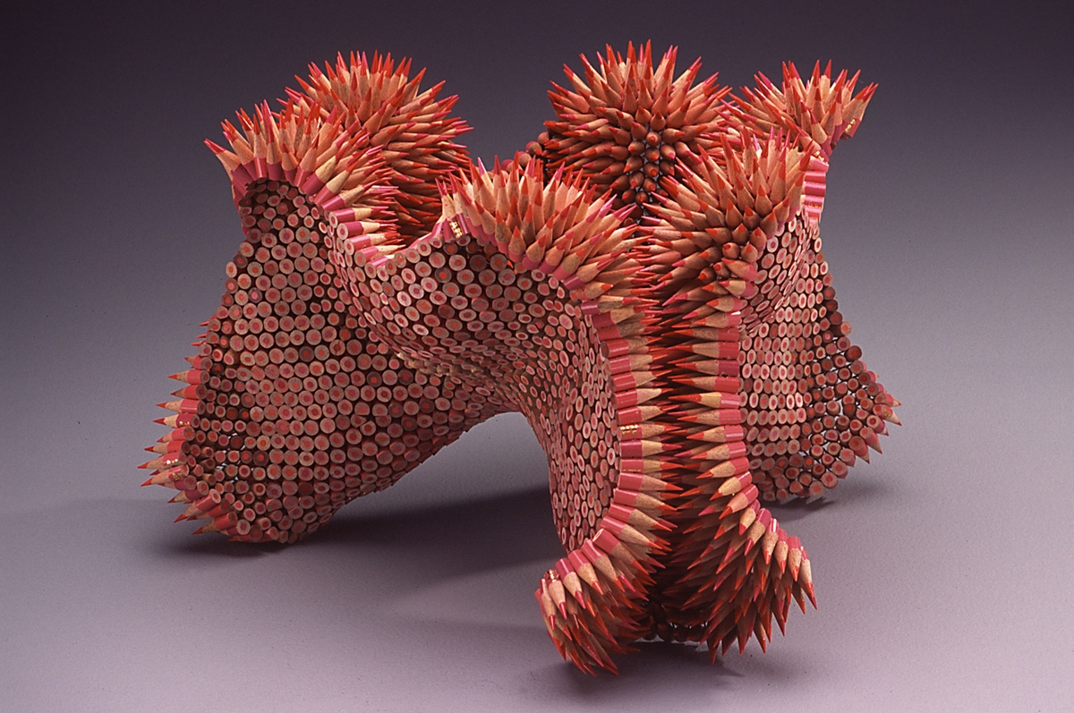 13-Seethe-Jennifer-Maestre-Creature-Pencil-Sculptures-with-a-Peyote-Stitch-www-designstack-co