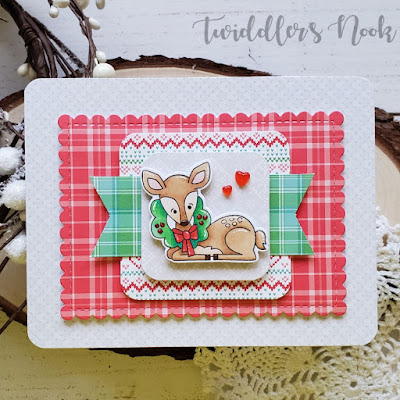 Amanda's card features Framework and Festive Fawn by Newton's Nook Designs; #newtonsnook