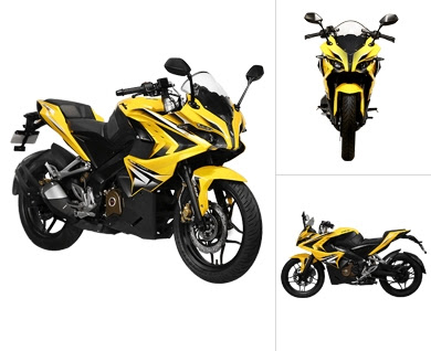 Bajaj Pulsar RS 200 Three angle look image