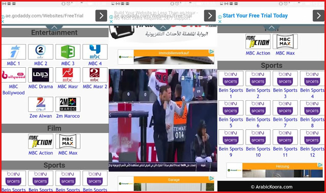إليك أفضل أربعة مواقع رهيبة لمشاهدة جميع القنوات بجودة عالية HD و بدون تقطيع و تدعم النت البطئ